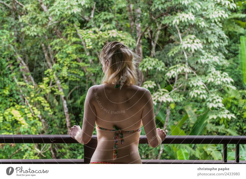 welcome to the jungle Harmonious Well-being Contentment Senses Relaxation Calm Vacation & Travel Adventure Far-off places Summer Summer vacation Woman Adults