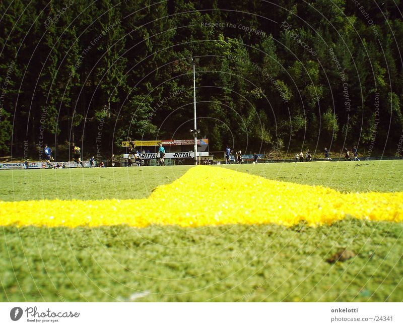 Green Yellow Sports Line Soccer Lawn Sporting grounds Artificial lawn Center line