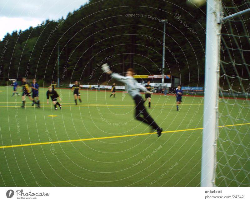 Green Sports Jump Soccer Ball Lawn Soccer player Gate Goalkeeper Artificial lawn