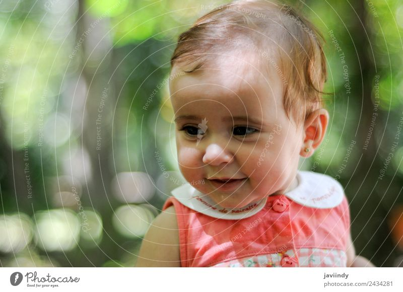 Six months old baby girl outdoors Happy Beautiful Face Child Human being Baby Girl Woman Adults Infancy 1 0 - 12 months Old Smiling Laughter Happiness Small