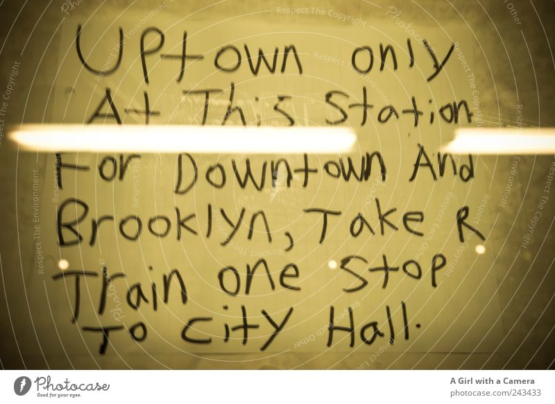 no way to Brooklyn Glass Authentic Cool (slang) Trashy Gloomy Town Yellow Signs and labeling Remark Underground New York City Americas Information