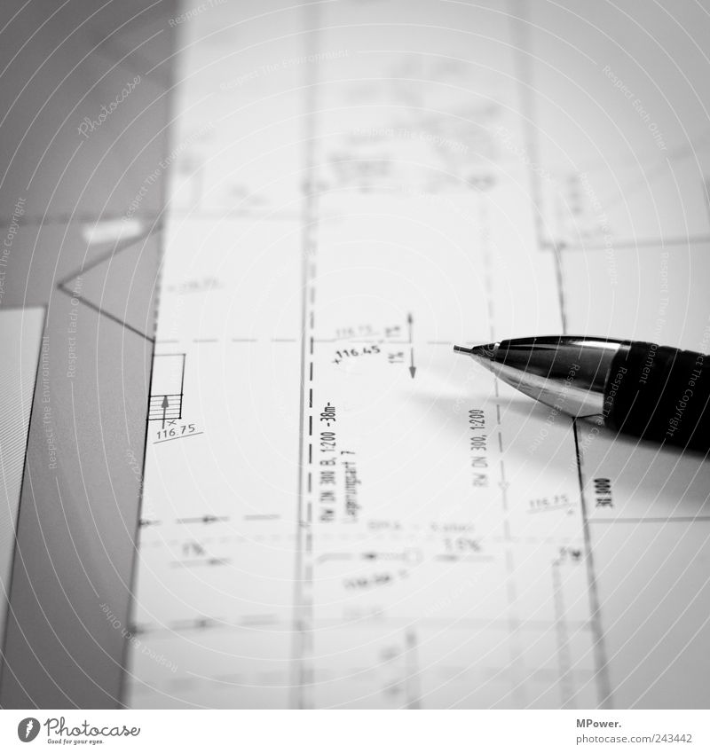 blueprint Study Work and employment Craftsperson Office work Construction site Craft (trade) Business Company Uniqueness Black White Advice Pen Pencil Line