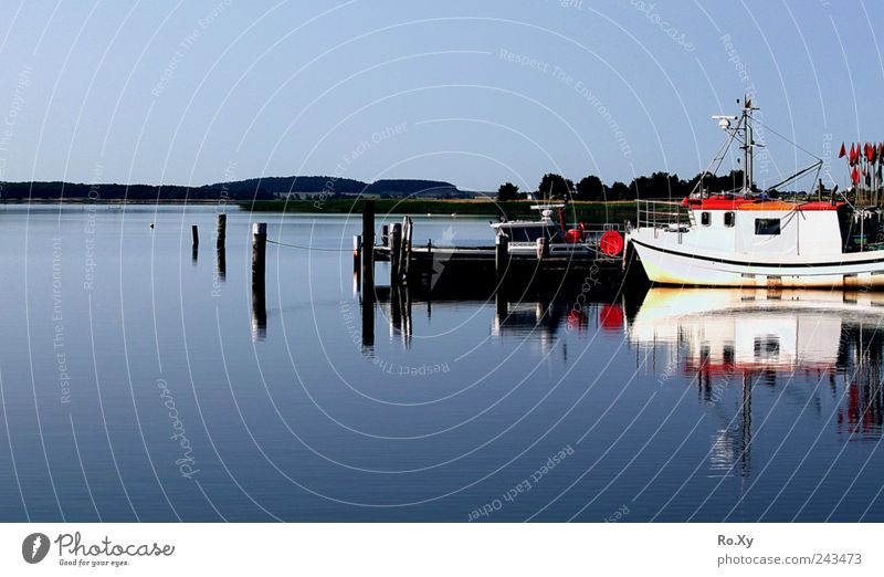 A sunny day on Rügen at the Baltic Sea Vacation & Travel Summer Summer vacation Beach Ocean Waves Nature Landscape Water Coast Island Idyll Harbour Watercraft