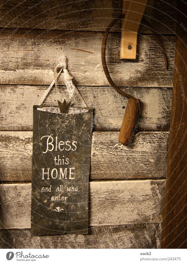 blessing Tool sickle Art Work of art Wooden wall Metal Sign Characters Signs and labeling Figure of speech Desire English Symbols and metaphors Crown God Hang