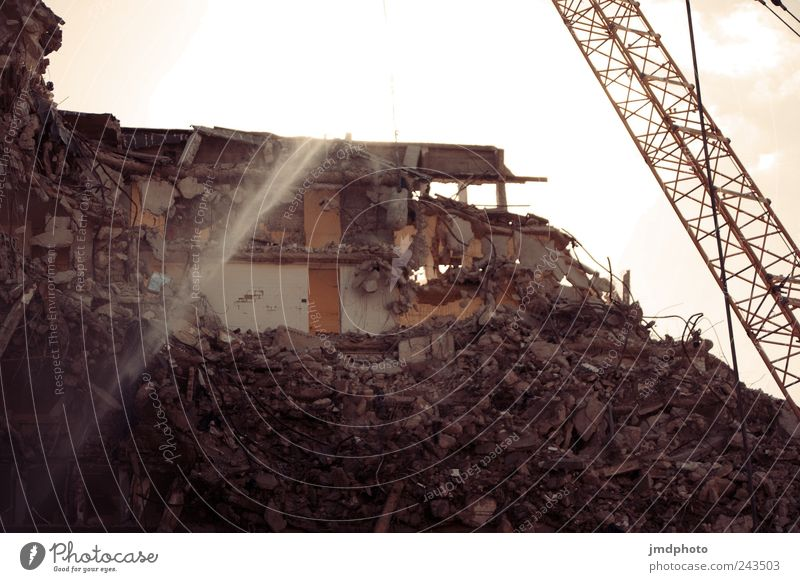 Old House (Residential Structure) Building Dirty Facade High-rise Beginning Broken Future Construction site Transience Curiosity Manmade structures Anger