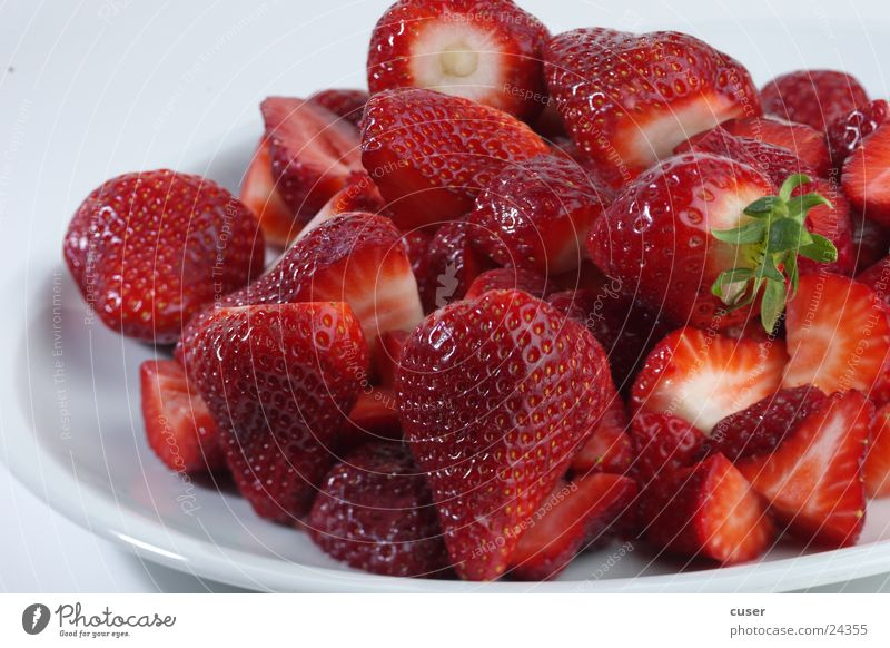 Red Healthy Fruit Berries Strawberry