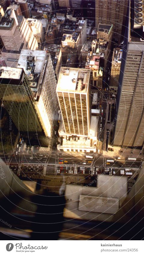 View from WTC New York City World Trade Center Urban canyon High-rise Small North America Human being