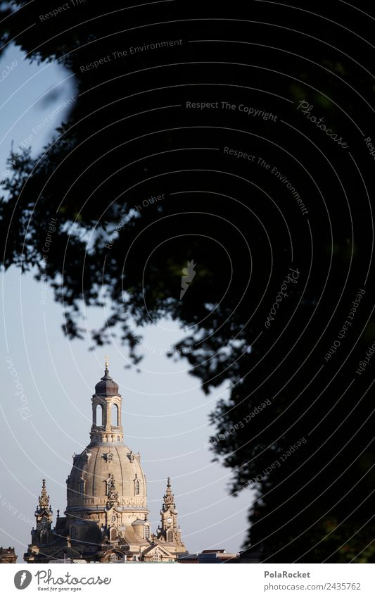 #A# Shy lady Capital city Esthetic Frauenkirche Dresden Saxony Tourist Attraction Domed roof Tourism Colour photo Subdued colour Exterior shot Detail