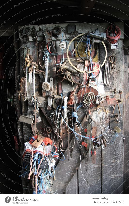 un/order Rope Hut Door Work and employment Build Utilize Hang Old Dirty Many Effort Arrangement Full Barn Handicraft Untidy Find Keep Tool