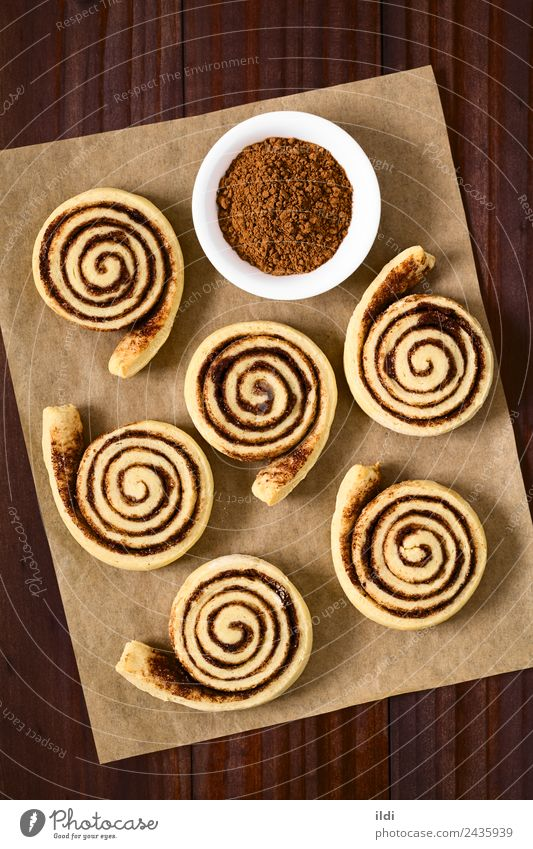 Homemade Cocoa Rolls Bread Dessert Candy Chocolate Breakfast Sweet food Baked goods Snack cacao Sugar biscuit Powder brunch Home-made Baking cake Spiral Rolled