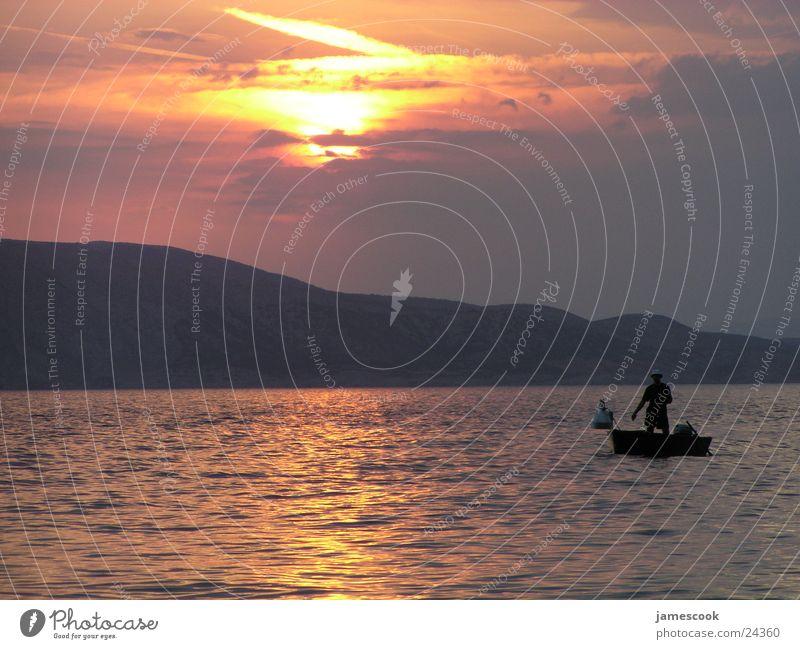 Sun Ocean Moody Fisherman