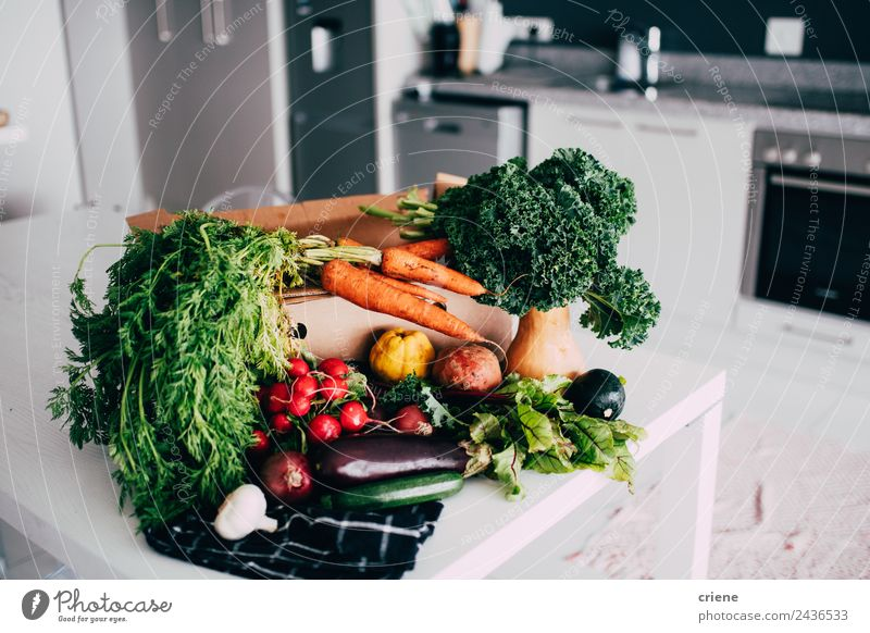 closeup of vegetable in kitchen Vegetable Nutrition Vegetarian diet Diet Lifestyle Kitchen Group Nature Fresh Good Bright Natural Green Red Colour food healthy