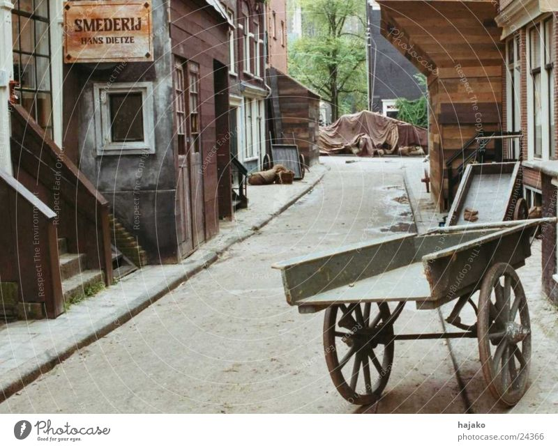 Old Amsterdam Cart Covers (Construction) Smithy Wood Facade Historic Street