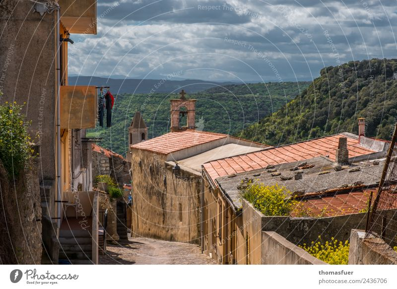OLD VILLAGE, SARDINIA, WITH CHAIR Vacation & Travel Far-off places Summer Summer vacation House (Residential Structure) Chair Sky Clouds Horizon