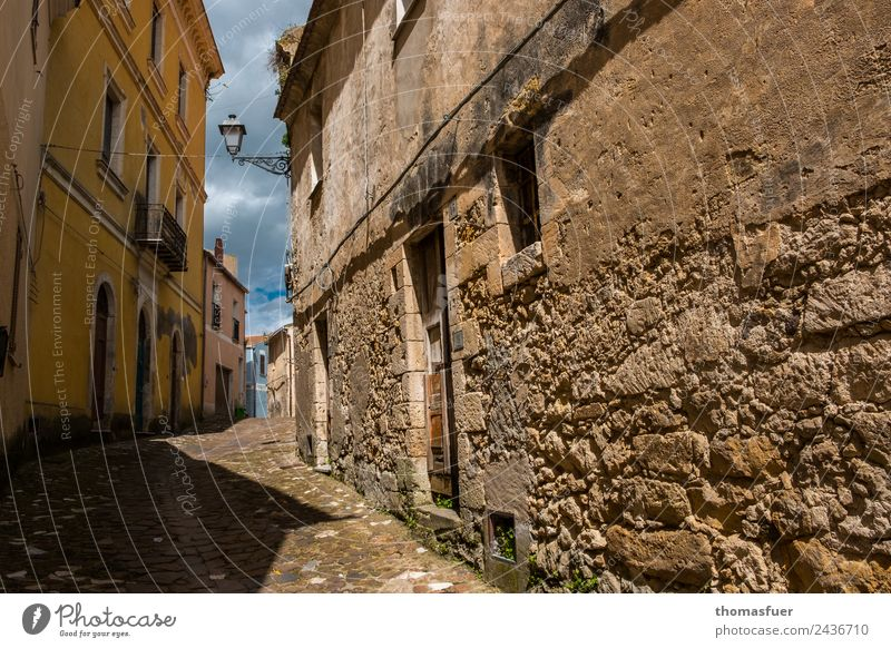 old alley, Sardinia Vacation & Travel Tourism Trip City trip Summer Sky Beautiful weather sedini Italy Small Town Downtown Old town Deserted