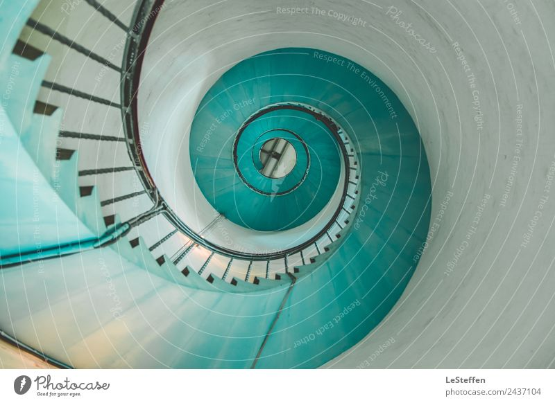 snail or staircase Design Tourism Interior design Art Architecture Hvide Sands Denmark Tower Lighthouse Tourist Attraction Concrete Wood Steel Old Esthetic