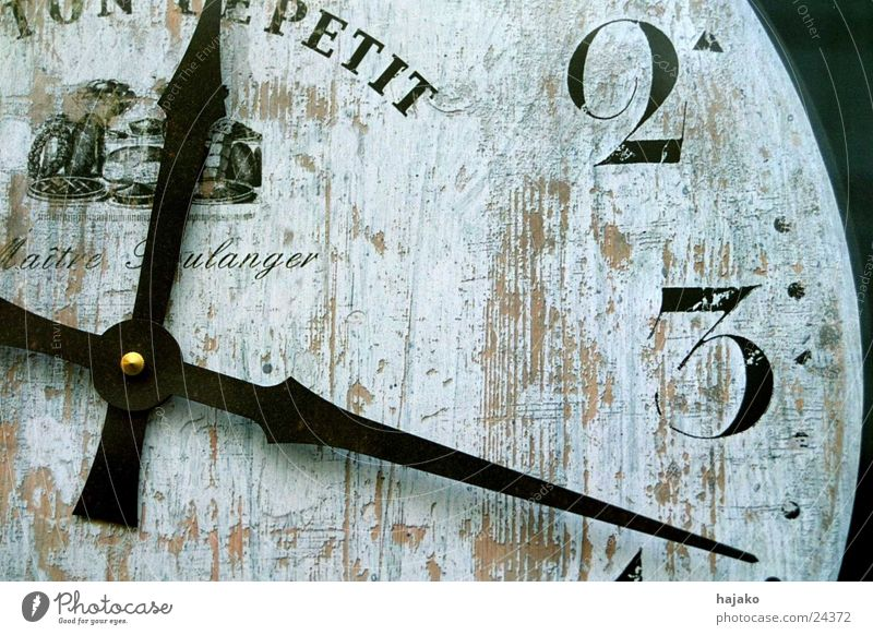 U(h)r time Digits and numbers Clock face Black White Photographic technology Clock hand France