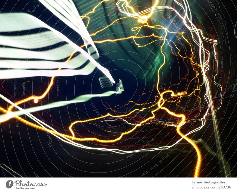 Line Time Electricity Lightning Tunnel Trashy Intoxication Visual spectacle Illusion Night life Beam of light Abstract Tunnel vision Time travel Wavy line