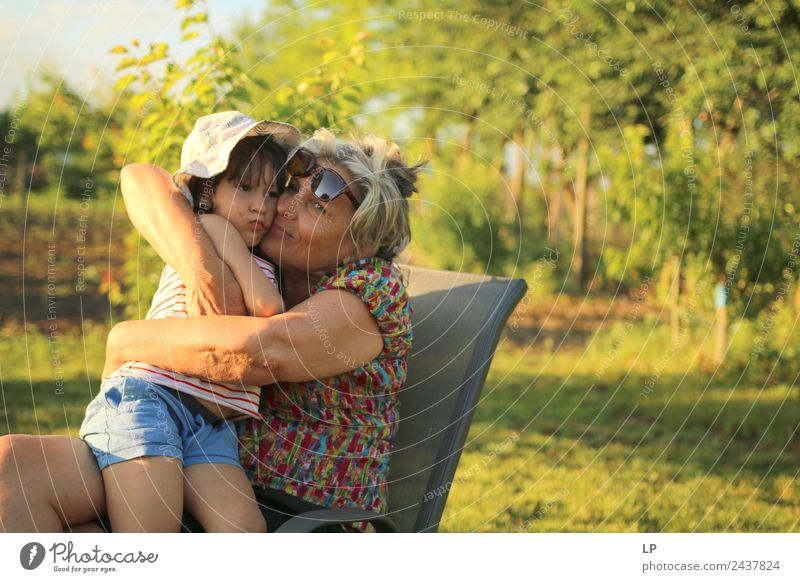 warm hug Parenting Education Kindergarten Human being Child Female senior Woman Parents Adults Brothers and sisters Grandparents Senior citizen