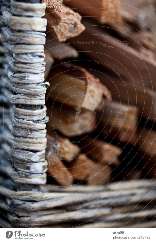 to hoard for the winter... Wood Plaited Basket Firewood Colour photo