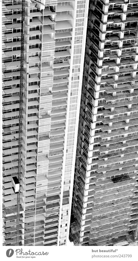 left and leaving° Town Capital city Deserted High-rise Might Animosity Black & white photo Contrast