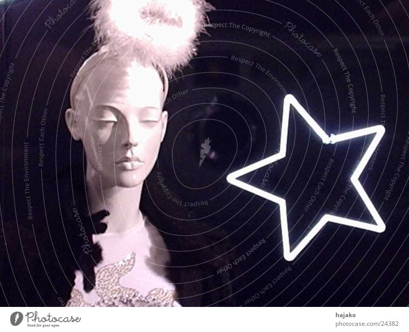 Star (Symbol) Feather Doll Neon light Photographic technology