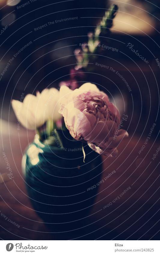 Beautiful Flower Dark Emotions Sadness Table Romance Decoration Vase Vintage Flower vase Mood lighting Peony