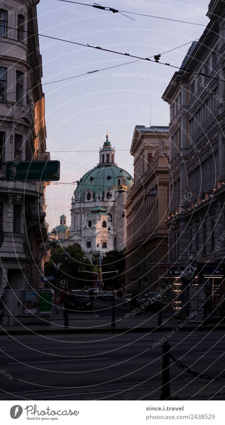 Karlskirche Vienna in the evening light Luxury Style Vacation & Travel Tourism Trip Sightseeing City trip Architecture Austria Europe Capital city Downtown