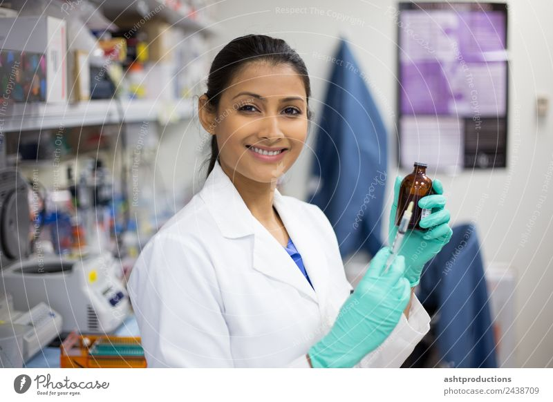 Needle and syringe Medication Laboratory Examinations and Tests Work and employment Doctor Industry Career Technology Science & Research Human being Woman