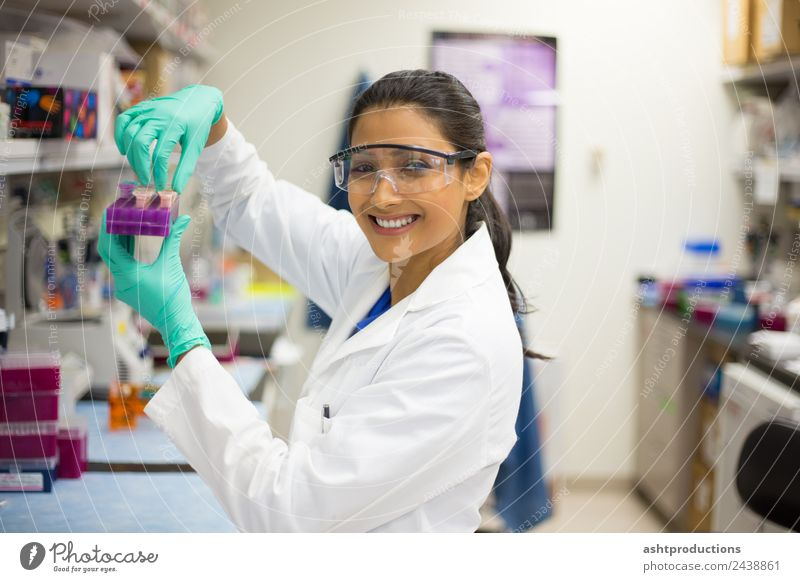 Happy to perform lab experiments Medical treatment Medication Science & Research Laboratory Examinations and Tests Doctor Industry Career Technology Human being