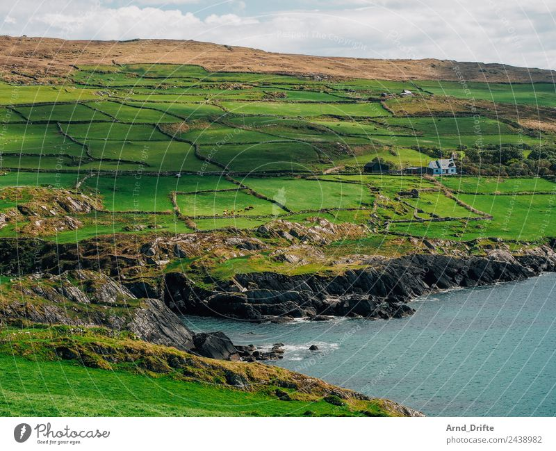 Sky Vacation & Travel Nature Summer Landscape Ocean House (Residential Structure) Clouds Loneliness Spring Meadow Coast Tourism Trip Field Waves