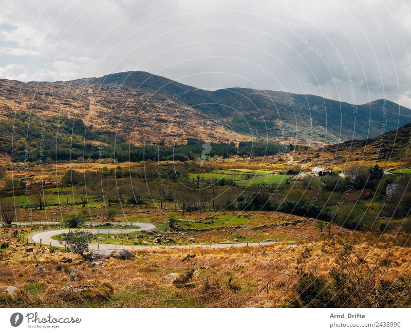 Ireland - Black Valley Nature Landscape Sky Clouds Spring Summer Beautiful weather Plant Tree Meadow Field Forest Hill Rock Mountain Canyon