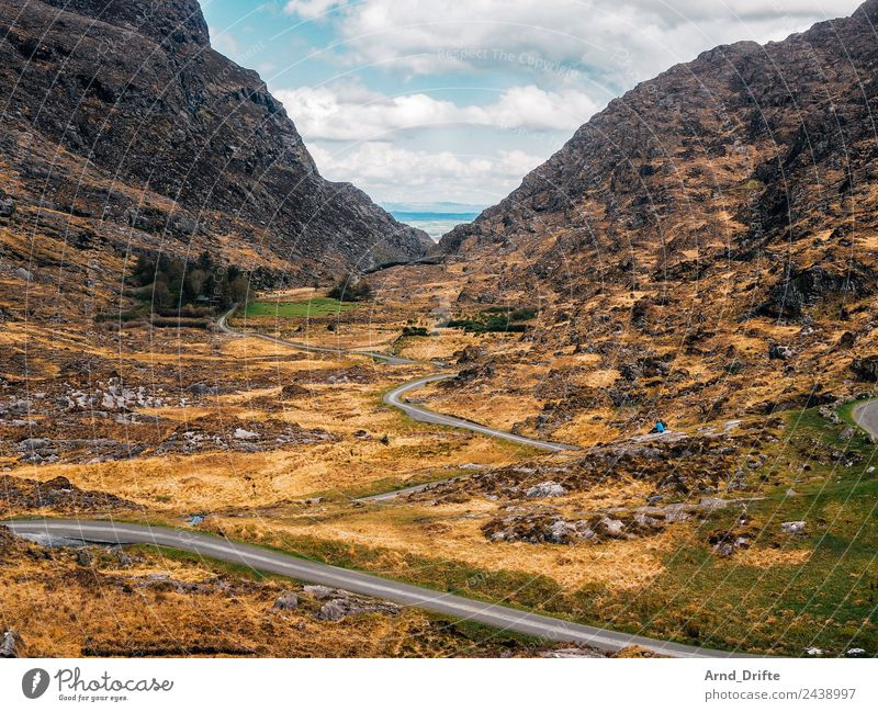 Ireland - Gap of Dunloe Vacation & Travel Tourism Trip Far-off places Freedom Sightseeing Nature Landscape Sky Clouds Spring Summer Beautiful weather Bushes