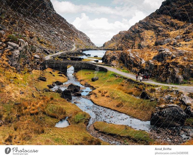 Gap of Dunloe Vacation & Travel Tourism Trip Adventure Sightseeing Summer Summer vacation Nature Landscape Sky Clouds Spring Beautiful weather Bushes Meadow