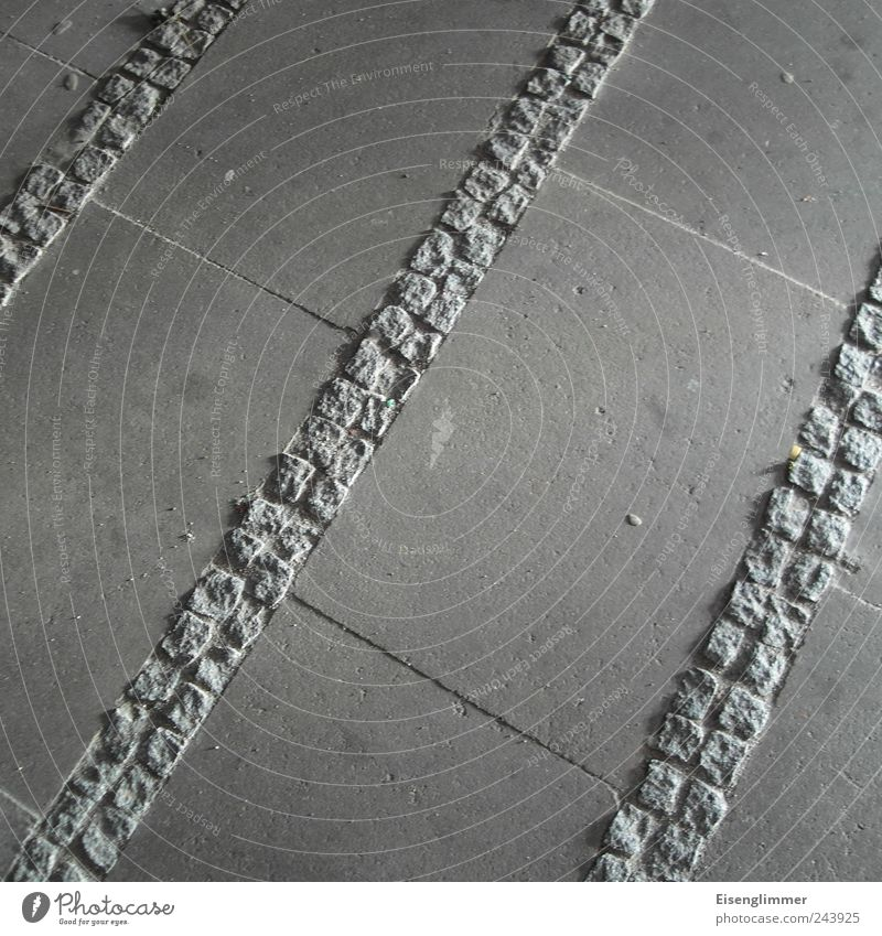 /// Stone Esthetic Sharp-edged Divide Paving stone Division Lanes & trails Divided Gray Symmetry Colour photo Subdued colour Exterior shot Detail Deserted