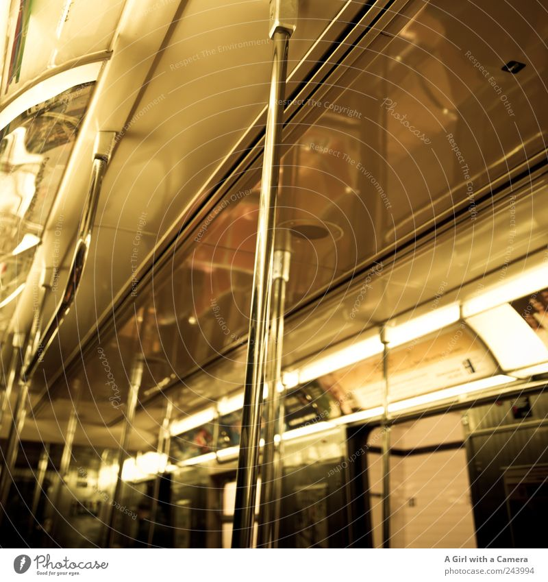 Above Lighting Gold Glittering Trip Transport Authentic Driving Under Underground Tunnel Downtown Sightseeing Ceiling Rod Passenger traffic