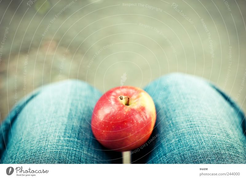 Blue Red Legs Healthy Wait Food Fruit Jeans Apple Delicious Denim Organic produce Paradise Awareness Patch of colour Fruity