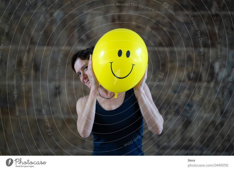 Woman Friendliness Curiosity Balloon Grinning