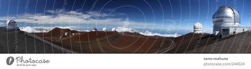 Observatories on Mauna Kea (Big Island, Hawaii) - Panorama Astronomy Science & Research Advancement Future High-tech Astronautics Observatory Nature Sky Horizon