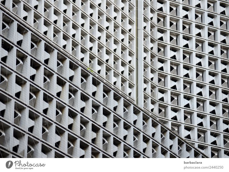 complex | Stuttgart Views Town Downtown High-rise Architecture Wall (barrier) Wall (building) Facade Metal Steel Modern Many Gray Esthetic Design Style