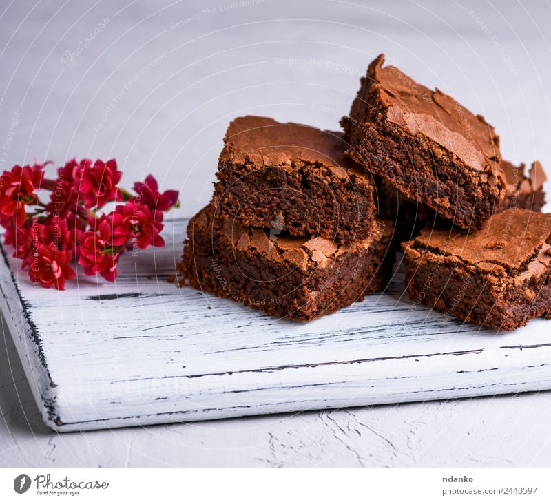 baked brownie pie Dessert Candy Nutrition Eating Dark Fresh Delicious Soft Brown brownies chocolate cake Stack background Home-made sweet Tasty Baking cooking