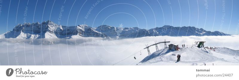 Blue Mountain Snow Weather Fog Skiing Ski lift Canton Wallis Morgins