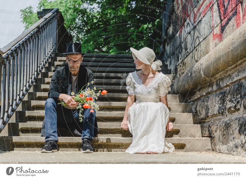 So what? | UT Dresden Human being Masculine Feminine Woman Adults Man Family & Relations Couple Partner Life 2 Old town Sit Exceptional Trashy Town Sympathy