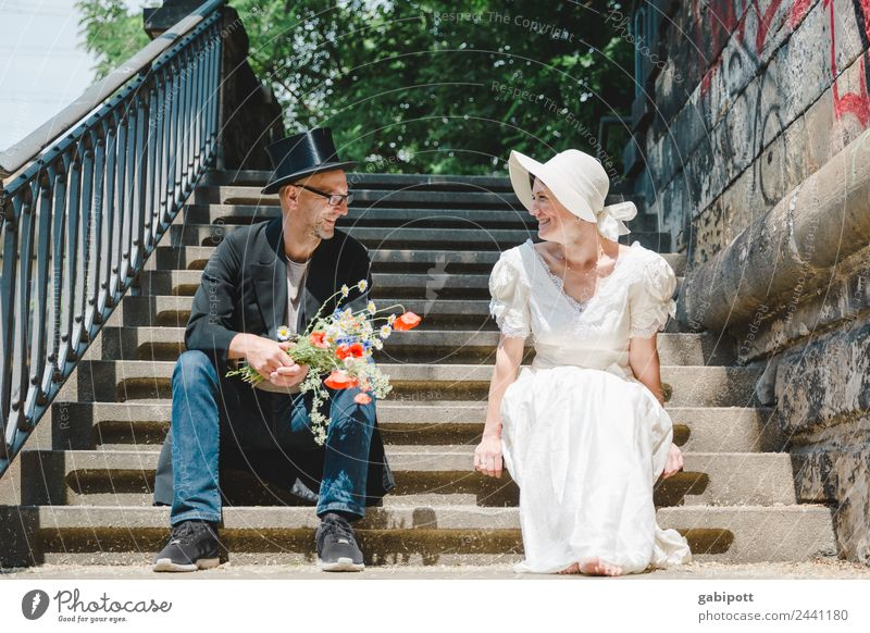 better together | UT Dresden 2018 Style Joy Happy Wedding Human being Masculine Feminine Woman Adults Man Couple Partner Hat Friendliness Happiness Fresh
