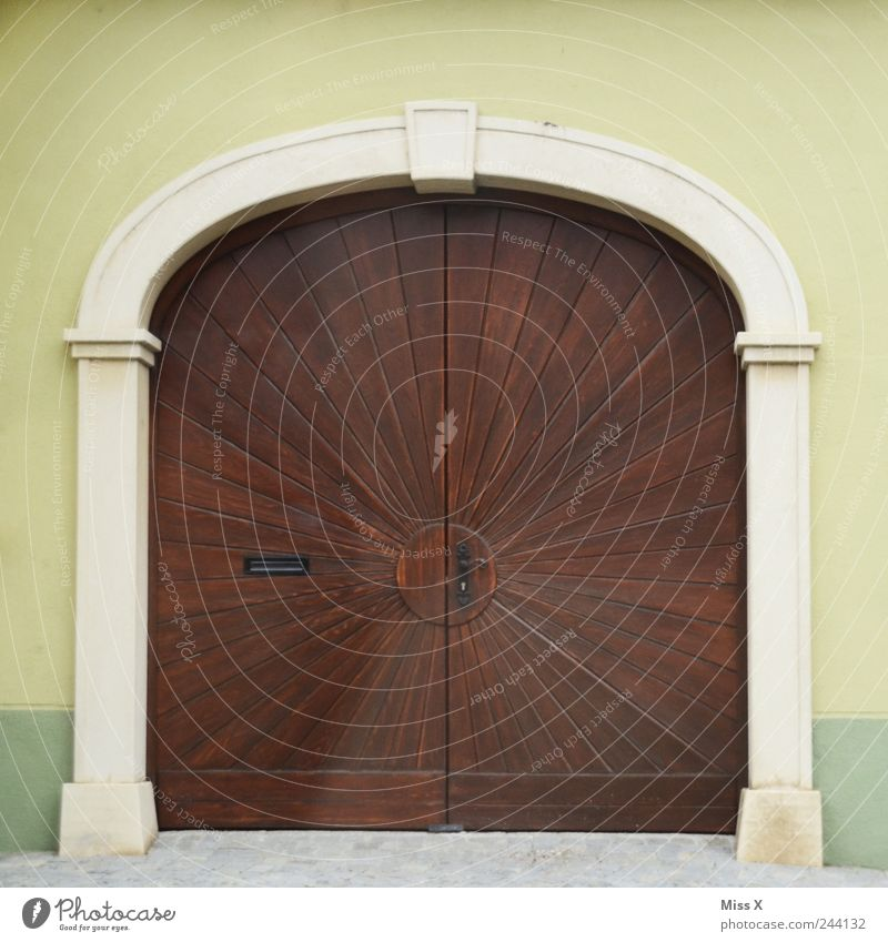 Old House (Residential Structure) Wall (building) Wood Wall (barrier) Building Architecture Door Large Facade Closed Gate Mailbox Doorframe Wooden gate