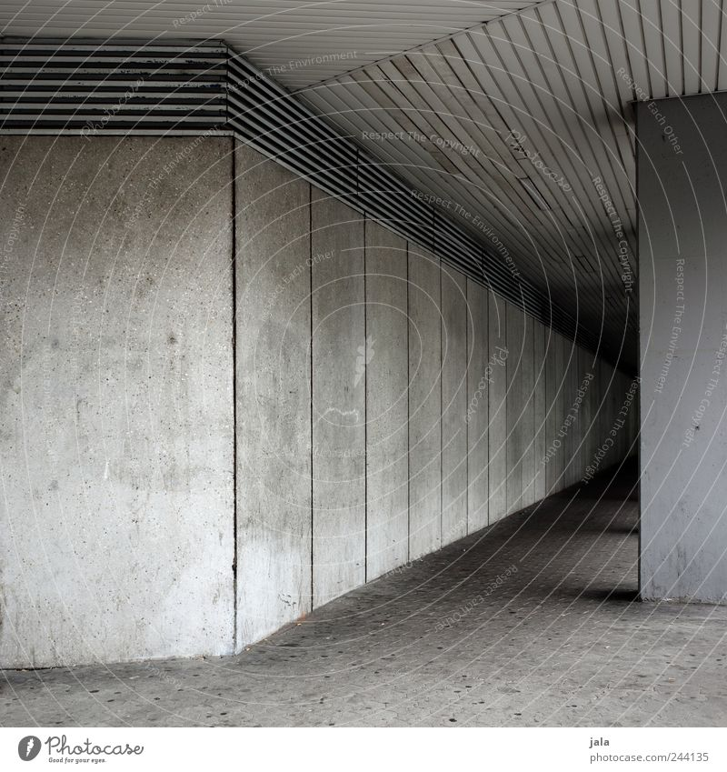 passage House (Residential Structure) Manmade structures Building Architecture Wall (barrier) Wall (building) Facade Gloomy Gray Concrete wall Colour photo