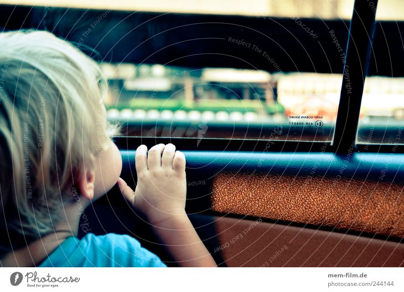 Child Vacation & Travel Hand Earth Car Window Travel photography Observe Curiosity Discover Human being Planet Rear seat