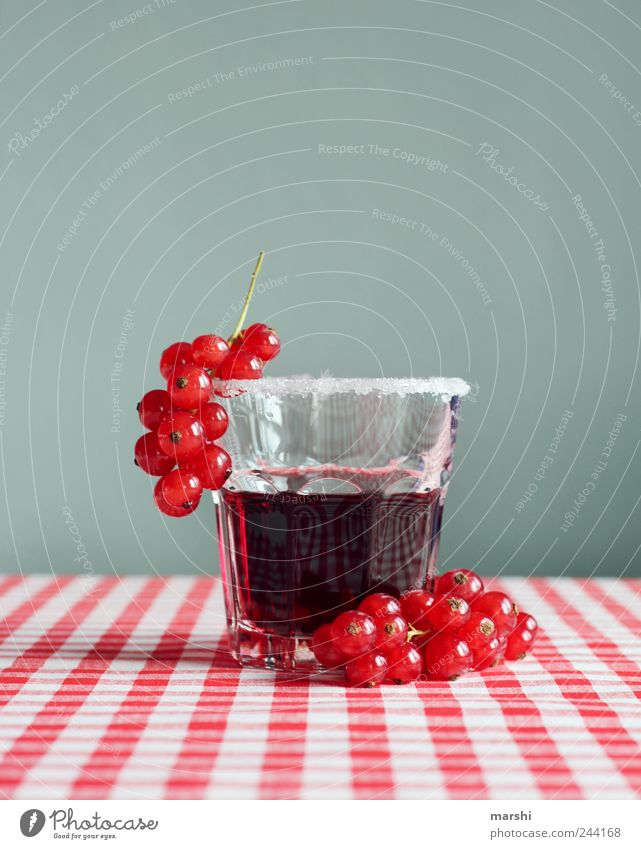 refreshment Food Fruit Nutrition Beverage Drinking Cold drink Juice Glass Red Thirsty Refreshment Sugar Berries currant juice Checkered Delicious Sour