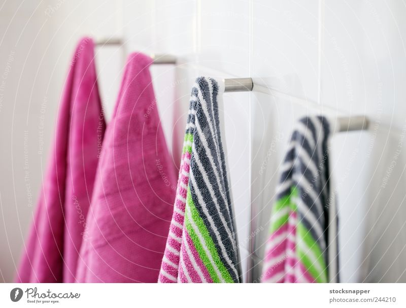 New towels New Stripe Bathroom Clean Row Hang Striped Textiles Nail Towel Cotton Hanging Object photography