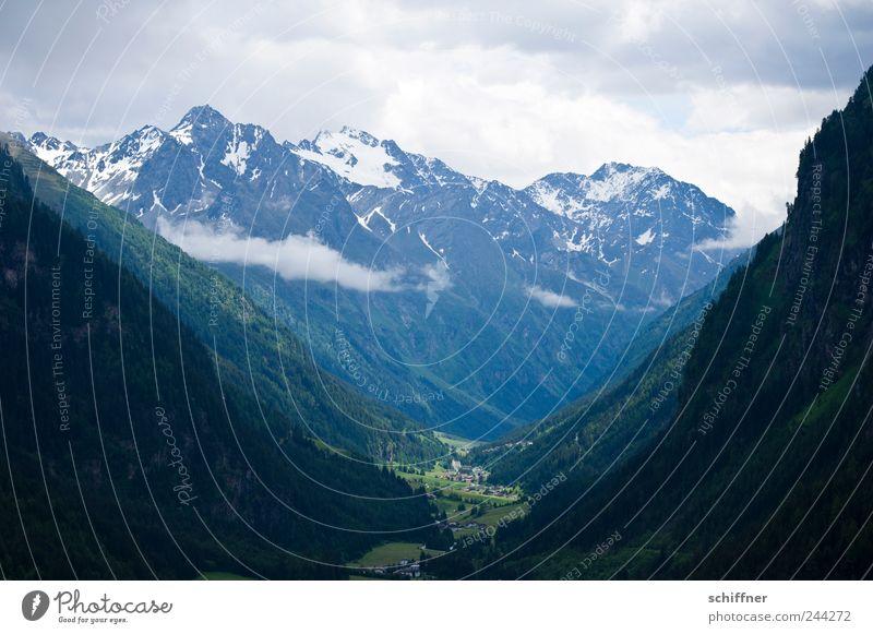 Nature Clouds Dark Mountain Landscape Rock Tall Threat Alps Peak Vantage point Narrow Bad weather Valley Slope Steep